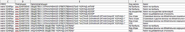 Exported Transaction Details in a CSV File